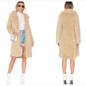 Tularosa Faux Fur Long Violet Coat